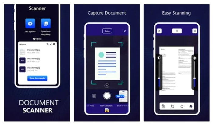 Escáner de documentos Pro