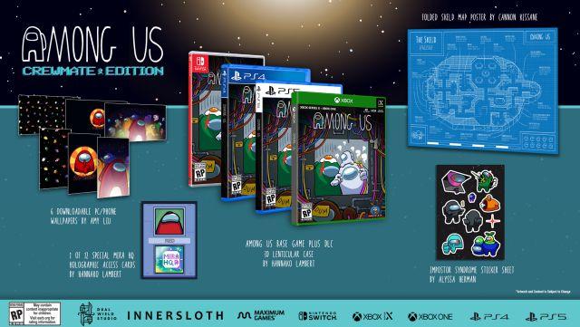 Among Us presenta tres ediciones físicas cargadas con extras para PS4, PS5, Xbox y Switch