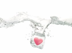 Valentine heart in ice