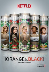 orange is the new black saison 3 laffiche lumineuse affiche 203x300 Les 10 séries que vous ne verrez que sur Netflix
