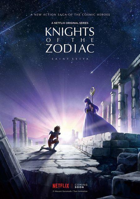 chevaliers du zodiaque affiche serie netflix Les Chevaliers du Zodiaque ramenés à lécran grâce à Netflix