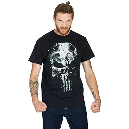 T-shirt-Punisher-Skull-tte-de-mort-Elbenwald-coton-noir-0-0