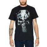 T shirt Punisher Skull tête de mort Elbenwald coton noir