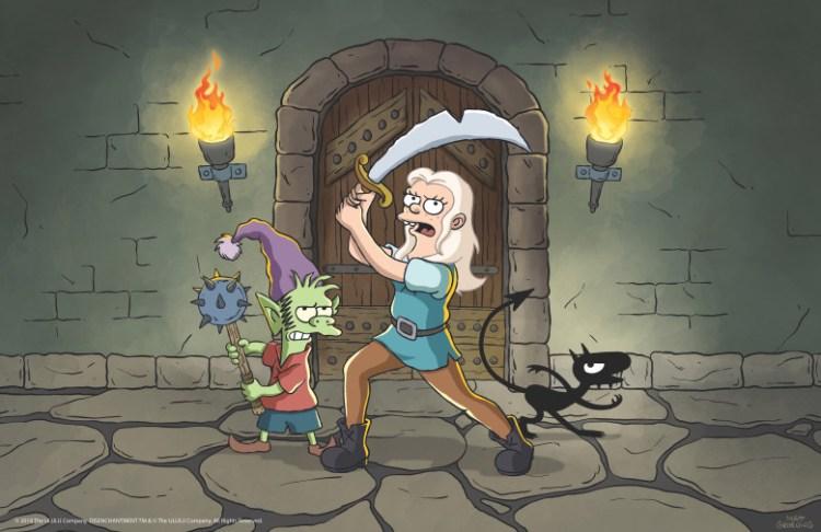 disenchantment netflix 2 Ouh Pinaise ! la nouvelle série du créateur des Simpsons se révèle en images