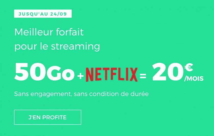 Red by SFR intègre Netflix à son abonnement