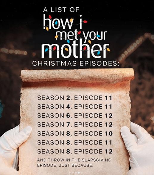 Capture d'écran 2019 12 05 à 21.13.43 How I Met Your Mother : La liste de tous les épisodes de Noël à voir sur Netflix