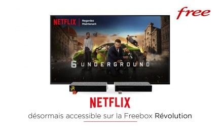 Netflix est disponible sur la Freebox Revolution