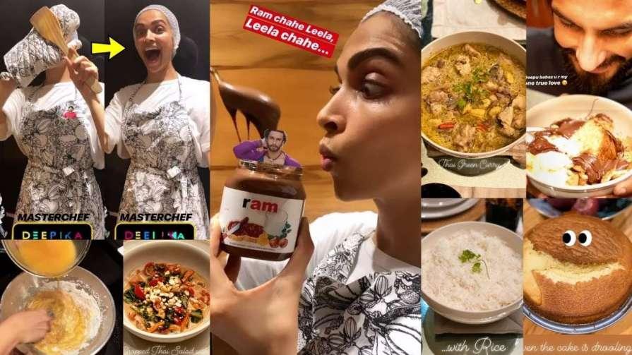 Deepika Lockdown Cook food