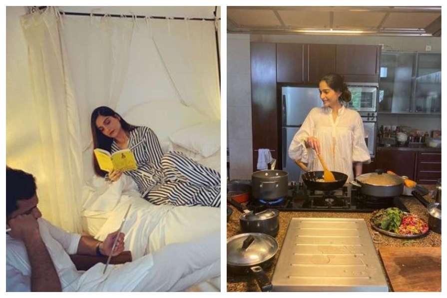 sonam kapoor cooking for husband lockdown