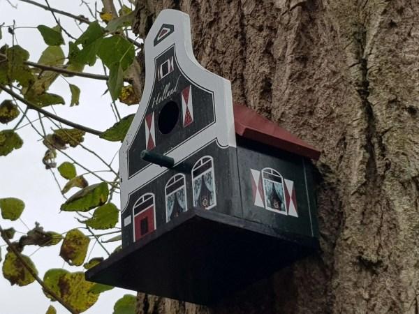 Birdhouse, Traditional Dutch House, Green - Woodenshoefactory Marken