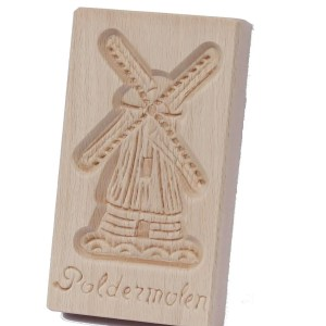 Cookie Mould, Poldermolen, 15 Cm / 6 Inch - Woodenshoefactory Marken