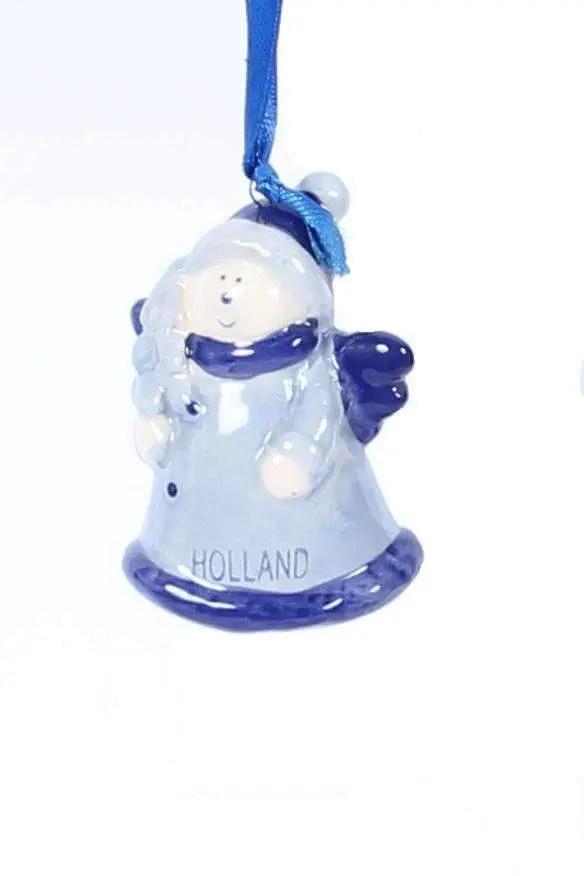 Christmas Ornament, Delft Blue, Angel - Woodenshoefactory Marken