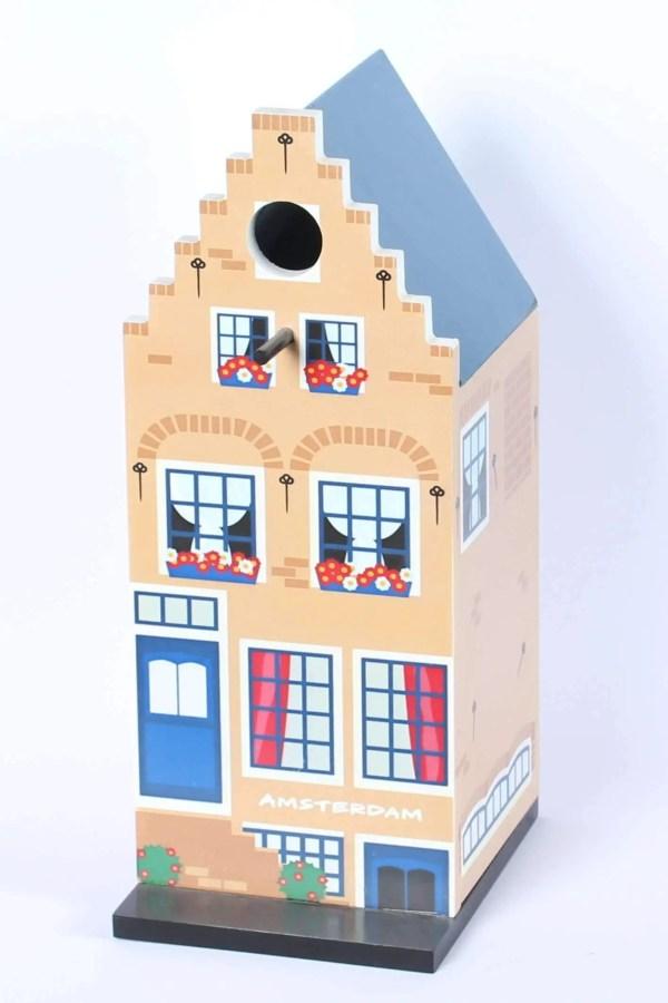 "Birdhouse, Canal House ""Trapgevel"" - Woodenshoefactory Marken"