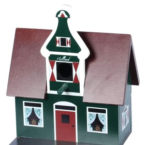 Birdhouse, Traditional Dutch House, Green Style 2 - Woodenshoefactory Marken