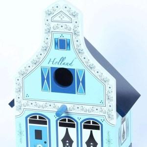 Birdhouse, Traditional Dutch House, Delft Blue - Woodenshoefactory Marken