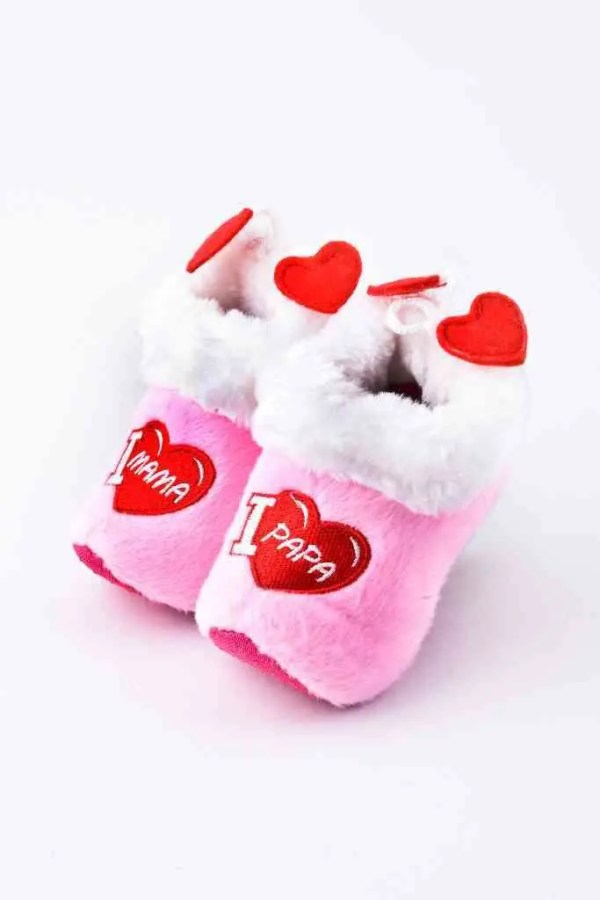 """Soft """"Wooden"""" baby shoes pink - Woodenshoefactory Marken"""