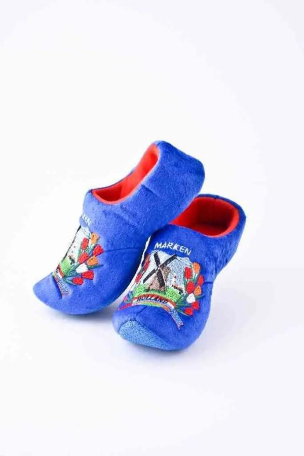 "Soft ""Wooden"" Shoe Blue - Woodenshoefactory Marken"