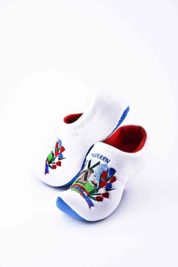 "Soft ""Wooden"" Shoe White - Woodenshoefactory Marken"
