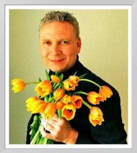 Paul Strikwerda with tulips