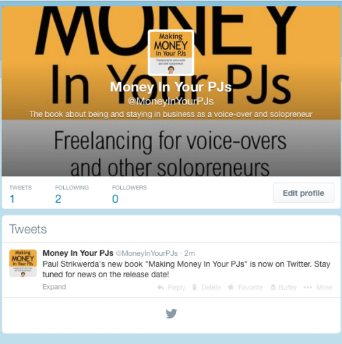 """The Twitter account of """"Making Money In Your PJs"""" by Paul Strikwerda."""