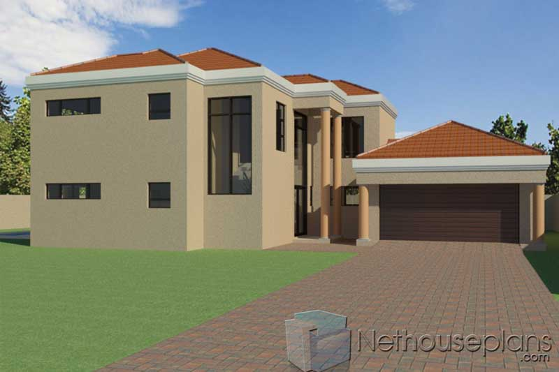 Double Storey 4 Bedroom House Plan in South Africa ...