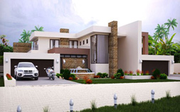 4 bedroom house plan, M497D modern house plan, 497sqm double storey home design, modern architecture style plan, contemporary house plan with photos, house floor plans, 4 bedroom house plans, house designs plans, 4 car garage, Southern living house plans, Nethouseplans
