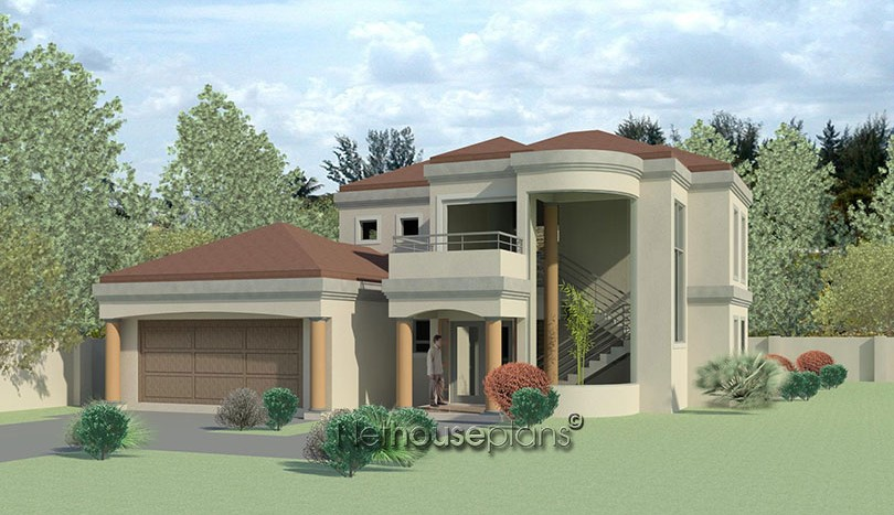 House plans south africa building plans blue valley golf estate 4 bedroom house plans houses with 5 garages build your own house design your own house waterfall estate Nethouseplans 3D house plans double story house plans beautiful house plan, Modern tuscan style house plan, 4 bedroom, double storey floor plans Nethouseplans