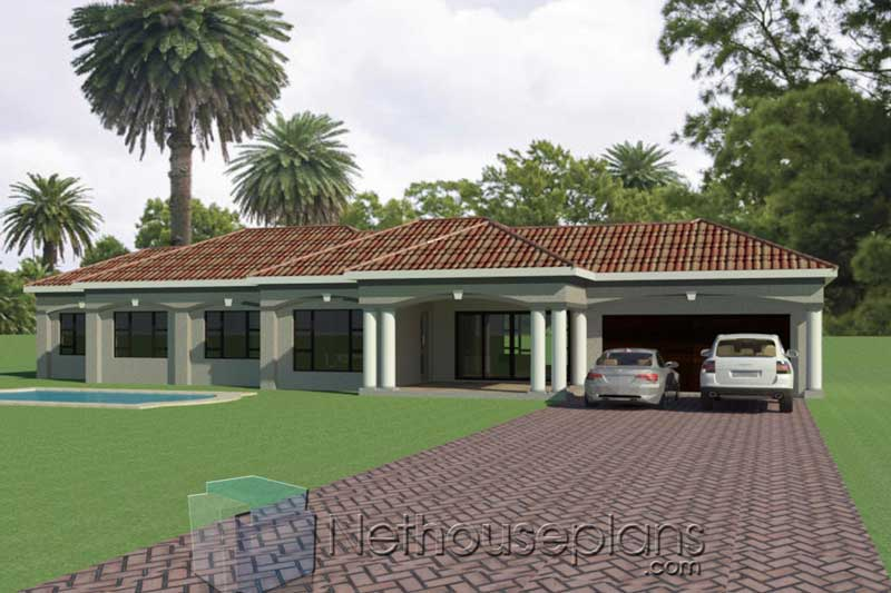 3-Bedroom-House-plans-South-African_T195_Driveway-View ...