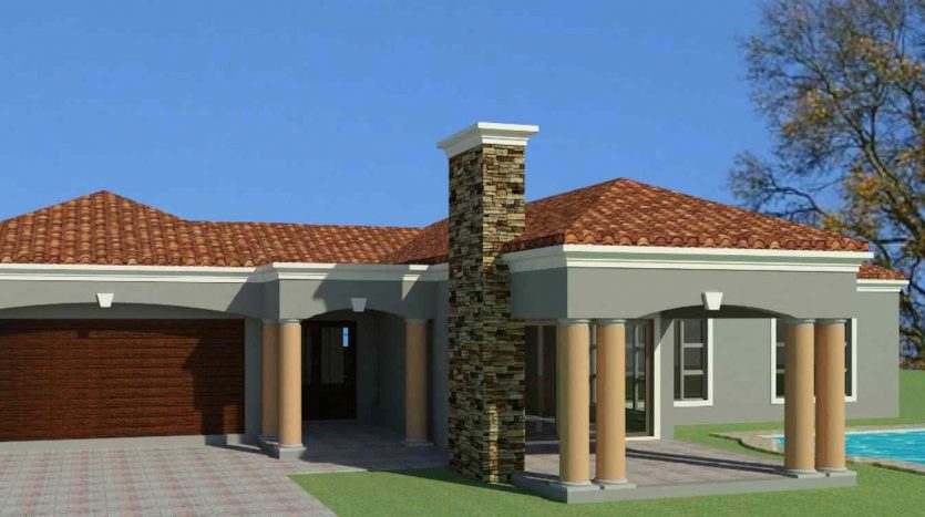 3 bedroom house plan design 3 bedroom house plans South Africa with photos small house plans with picture Tuscan house plans Nethouseplans