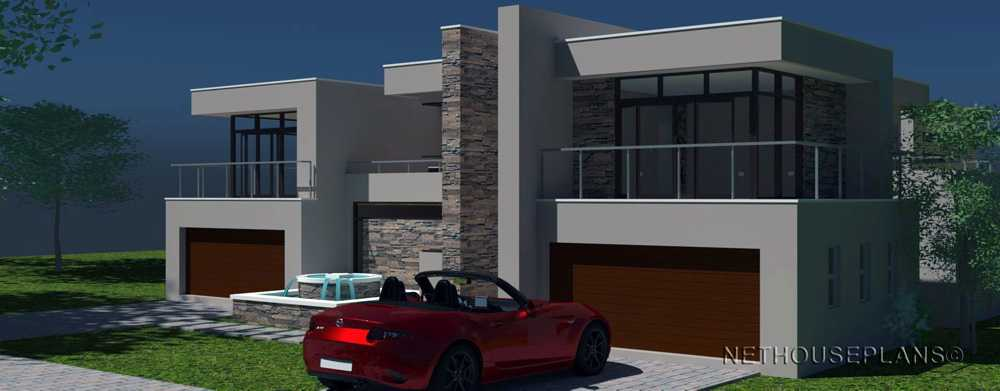 house plans with photos 4 Bedroom house plans by Nethouseplans