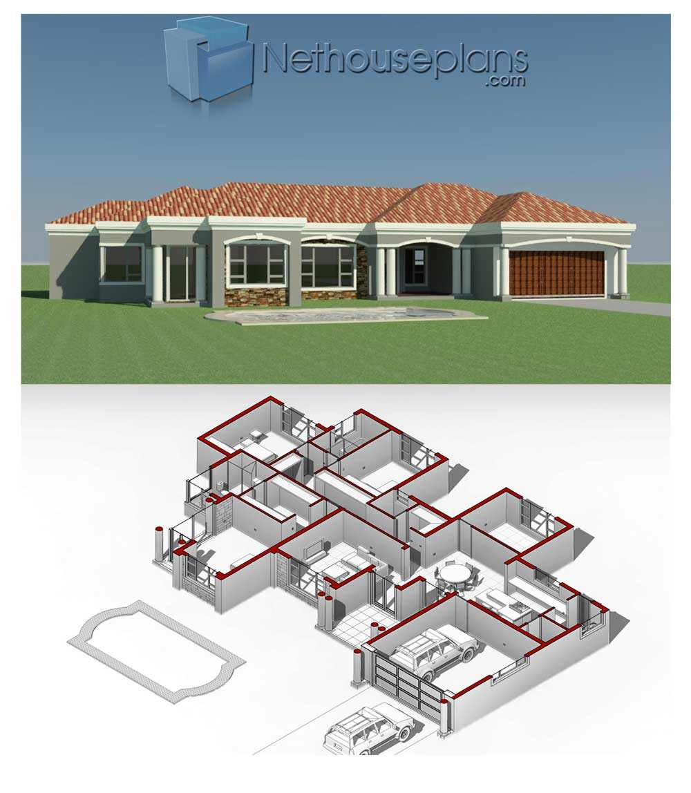 House plans designs, Floor plan designs, House Plans South Africa, Floor Plans Designs, House designs, modern house plans with photos, home designs, 4 bedroom house plans, Nethouseplans