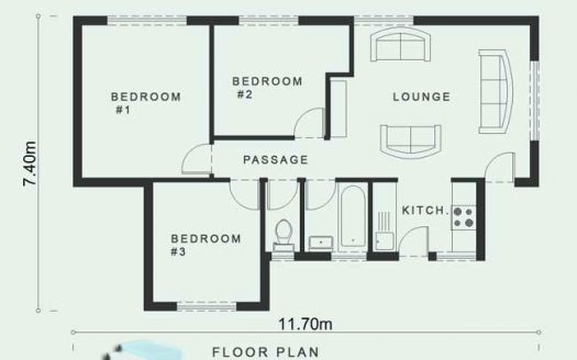 Narrow lots house plans, small house plans, 3 bedroom house plans with pictures, Nethouseplans