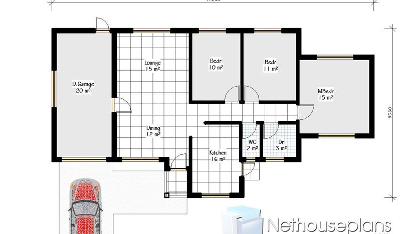 small 3 bedroom house floor plans for sale simple house plans South Africa floor plans building plans Nethouseplans