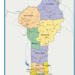 Benin Map Africa Wall Maps