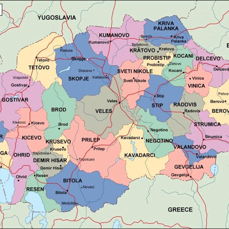 Macedonia travel map