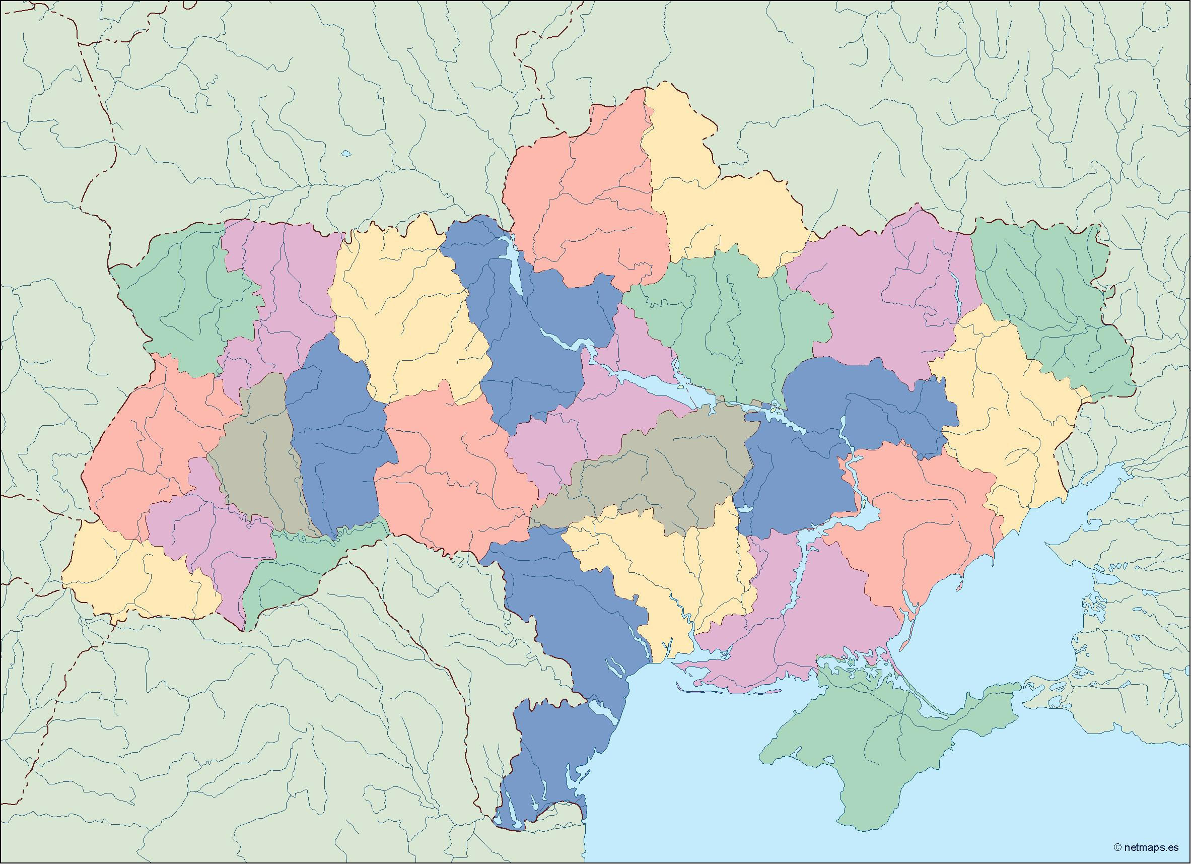 Ukraine country maps   Vector   Wall Maps from Netmaps      Made in     ukraine blind map
