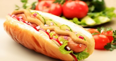 Close up of hot dog. Fast food. Isolated over white background.