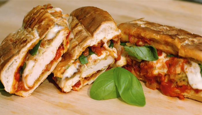 Grilled Chicken Parm Hero-Netmarkers