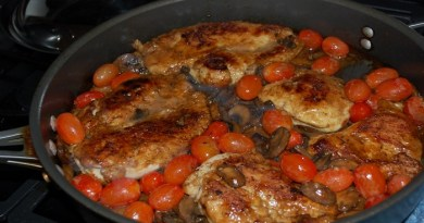 Drunken chicken marsala with tomatoes-Netmarkers