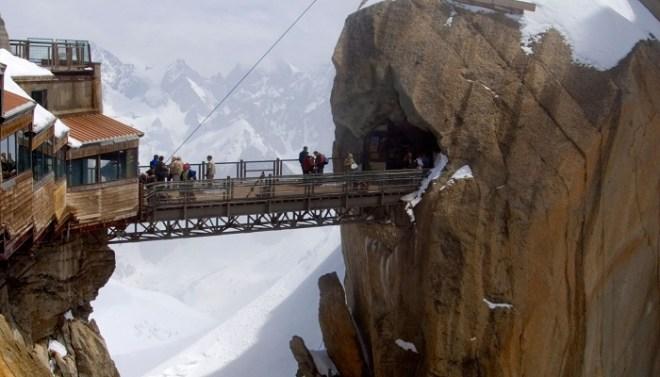 Aiguille Du Midi Bridge- Mont Blanc Massif, France-netmarkers