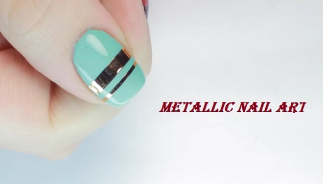 metllic nail art netmarkers