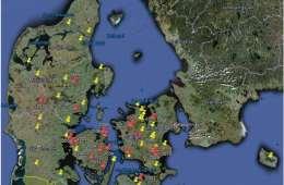 Lokalisation af steder med rådyrsyge