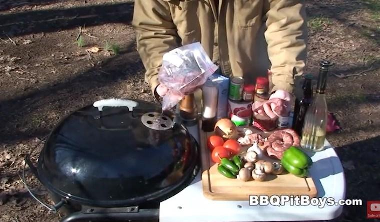 Vildtkød på grillen med hot chilli