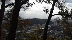 御幸寺山からの松山城