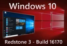 Windows 10 Redstone 3 build 16170