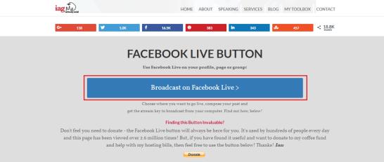 broadcast on facebook live