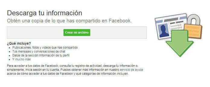 Respaldo de Facebook