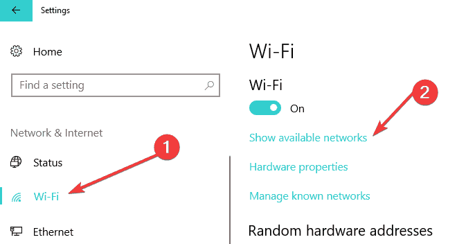 Wifi-Windows 10