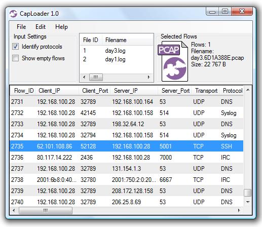 CapLoader identifying Rootkit SSH backdoor on TCP 5001