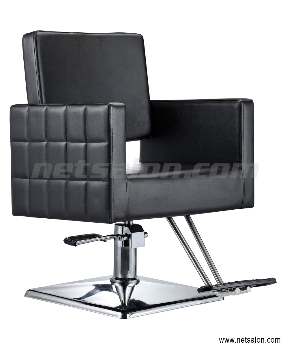 Cubix Pro Styling Salon Chair in Black   Salon Chairs & Stools